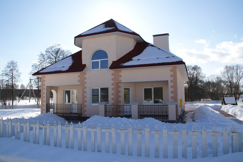 Коттедж № 14 в строящемся коттеджном поселке «Беляевская слобода»
